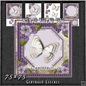Vintage Lace Flowers Butterfly Mother's Day Card Kit 1249