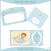 BABY BOY VINTAGE STYLE DL SIZE CARD
