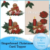Gingerbread Christmas Card Topper
