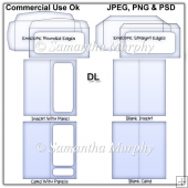 DL Envelope Card & Insert Templates Commercial Use