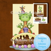 8x8 Birthday Dragon Topper