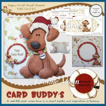 Yappy Christ-Woof! Shaped Fold Card Kit