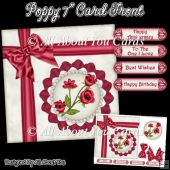 Poppy 7 Inch Card Front
