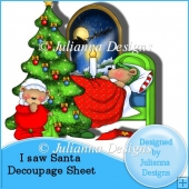 I Saw Santa Decoupage Sheet