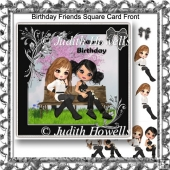 Birthday Friends Square Card Front