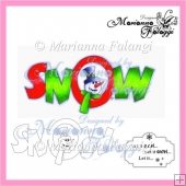 Snow Title and Sentiment Digital Stamps