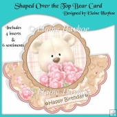 Shaped Over the Top Bear Card with Pyramage