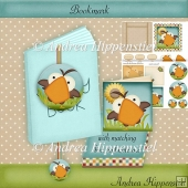 Bookmark with box and notecard silly Bird