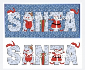 Santa DL Card Topper