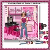 Birthday Girl Pink Room Card Front