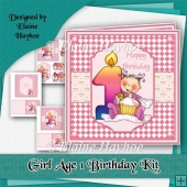 Girl Age 1 Birthday Kit