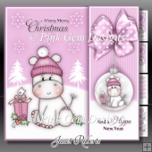 Hippo Christmas Pink Mini Kit
