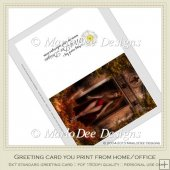 Pretty Devil Woman Fantasy Printable Greeting Card
