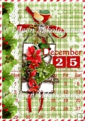 Christmas Calendar Backing Background Paper