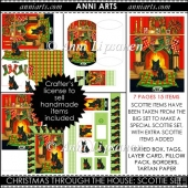 Christmas through the House Scottie Dog Set