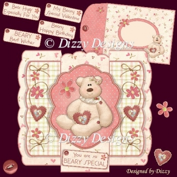 Beary Special stepped Pop Out Card