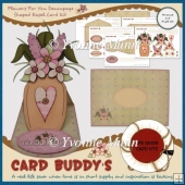 Flowers For You Decoupage Shaped Easel Card Kit