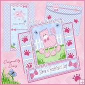 Have a purrfect day - stepped pop out card