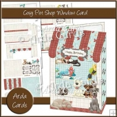 Cosy Pet Shop Window Card