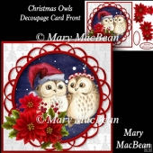 Christmas Owls - Decoupage Card Front