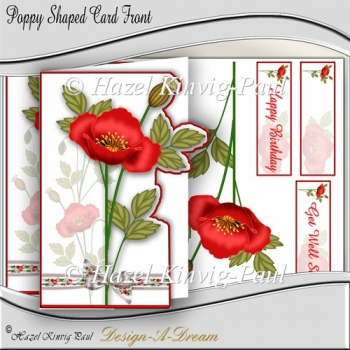 Poppy Shaped Card Front