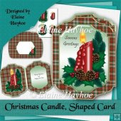 Christmas Candle Shaped Card Kit