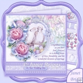 Wedding Doves 8x8 Decoupage Kit