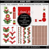 XMAS JOLLY HOLLY CARD KIT