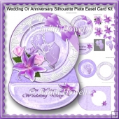 Wedding Or Anniversary Silhouette Plate Easel Card Kit