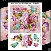 Birds with Flowers Topper and Decoupage