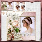 Berry beauty, card with decoupage and sentiment tags