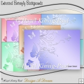 Embossed Butterfly Backgrounds