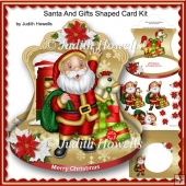 Santa And Gifts Shaped Card Kit