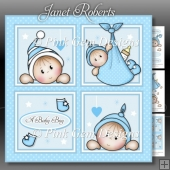 Baby Boy Squares Mini Kit