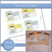 Blue & Yellow Boy Tooth Fairy Envelopes