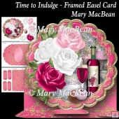 Time to Indulge - Framed Easel Card