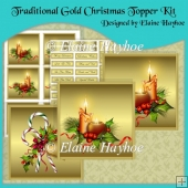 Traditional Gold Christmas Topper Kit