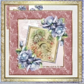 on the other side of the bridge card with decoupage