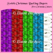 Swirls Christmas Backing Papers