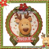 Little Deer Christmas Plate Card Kit