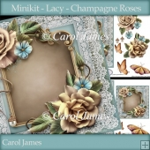 Minikit - Lacy - Champagne Roses