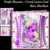 Purple Blossoms - Curved Layers Card