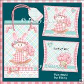 Bouquet Bunny Gift Bag and Pillow Box