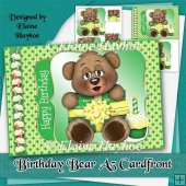 Birthday Bear Cardfront and Pyramage