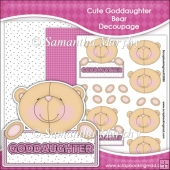 Cute Goddaughter Bear Decoupage Download