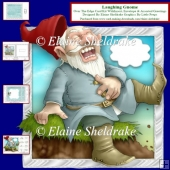 Laughing Gnome Over The Edge Card Kit & Insert, Envelope & Tags
