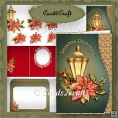 Wavu edge Christmas lamp card set