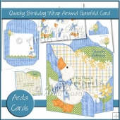 Quacky Birthday Wrap Around Gatefold Card