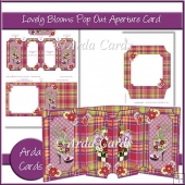 Lovely Blooms Pop Out Aperture Card