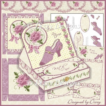 The Slipper and The Rose - Easel Drawer Card
